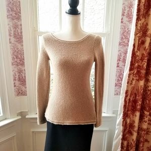 J.Crew Factory Scoop Neck Camel Sweater in X-Small
